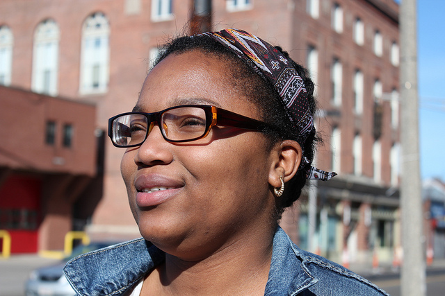Jaelle Sanon, 17, came to the U.S. from Haiti when she was eight. Photo: Julia Shu